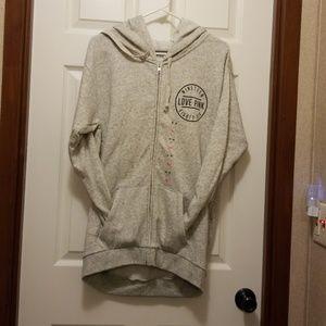 V.s long zip up hoodie oversized 6bg